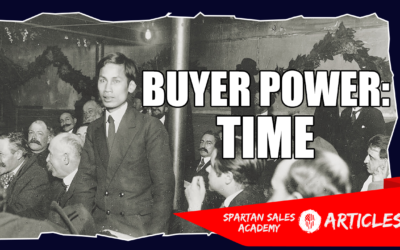 BUYER POWER #1 – TIME