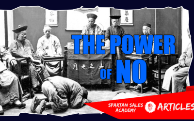 SELLER POWER #3 – THE POWER OF NO